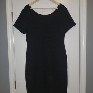 Ashley Stewart black fitted knee length dress
